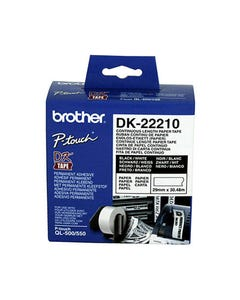 BROTHER DK-22210 CONTINUOUS PAPER LABEL ROLL 29MM X 30.48M WHITE