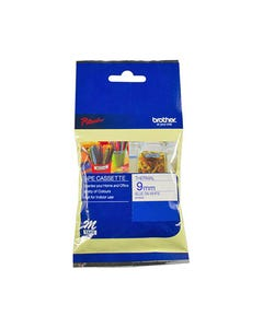 BROTHER M-K223 LAMINATED LABELLING TAPE 9MM BLUE ON WHITE