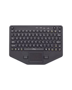 IKEY BLUETOOTH INDUSTRIAL KEYBOARD WITH TOUCHPAD BLACK
