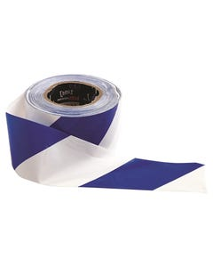 Pro Choice® Barricade Tape - 100m x 75mm Blue & White BW10075