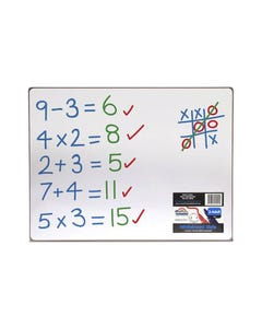 COLORIFIC DOUBLE SIDED WHITEBOARD 400 X 300MM