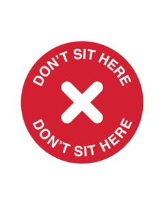Hospitality Chair / Table Adhesive - 'Don't Sit Here'