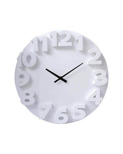 CARVEN WALL CLOCK WITH FASHION 3D NUMBERS 350MM WHITE