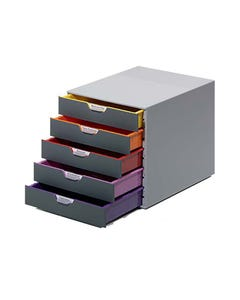 DURABLE VARICOLOR DRAWER FILE 5 DRAW GREY