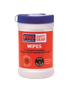 Pro Choice® Isopropyl Wipes 75 Wipe Cannister CW75
