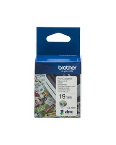 BROTHER CZ1003 LABEL ROLL 19MM X 5M WHITE