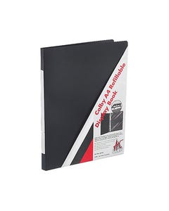 COLBY DISPLAY BOOK INSERT COVER REFILLABLE 20 POCKET A4 BLACK