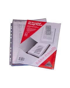 COLBY FOLDER FRIENDLY POCKET A4 CLEAR PACK 5
