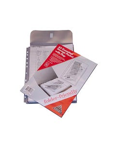COLBY FOLDER FRIENDLY POCKET 30MM GUSSET + FLAP A4 CLEAR PACK 5