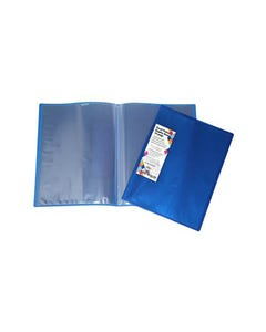 HARLEQUIN DISPLAY BOOK INSERT COVER NON-REFILLABLE 10 POCKET A4 BLUE