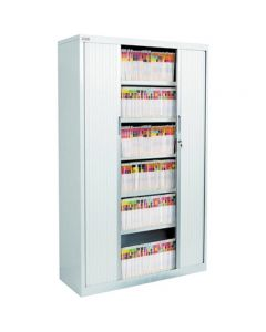 AVERY 20261OG/A20126 TAMBOUR CABINET PACKAGE 2 / 6 LEVELS OYSTER GREY