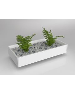 AXIS PLANTER BOX FOR REAL PLANTS 150 X 900 X 450MM WHITE