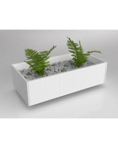 AXIS PLANTER BOX FOR REAL PLANTS 240 X 900 X 450MM WHITE