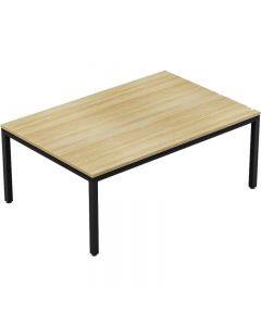 AXIS MEETING TABLE 1800 X 1200MM BLACK FRAME NEW OAK TOP