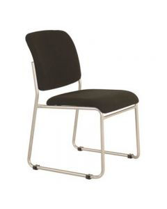 BURO MARIO VISITOR CHAIR STACKABLE LINKABLE JETT FABRIC BLACK