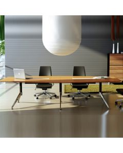 NOVARA BOARDROOM TABLE ZEBRANO TIMBER VENEER 3000 X 1200 X 750MM