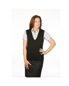 MTF Ladies Extended V-Neck Vest With Deep Rib Basque