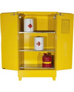 BRADY FLAMMABLE LIQUID STORAGE CABINET VALUE 160L YELLOW