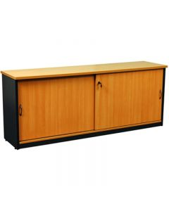 OXLEY CREDENZA 1200 X 450 X 730MM BEECH/IRONSTONE