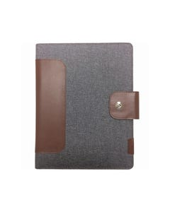 COLLINS CH2 COMPACT COMPENDIUM WITH NOTEPAD QUARTO 260 X 210MM MAGNETIC CLOSURE GREY
