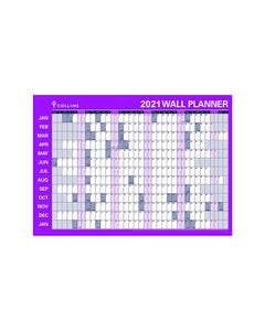 COLLINS DEBDEN 2021 YEAR PLANNER LAMINATED ROLL UP 686 X 990MM