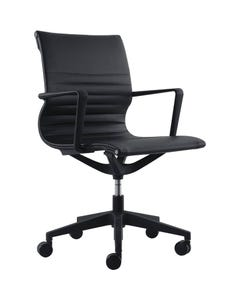 BURO DIABLO CHAIR WITH ARMS BLACK FRAME BLACK PU3 UPHOLSTERY