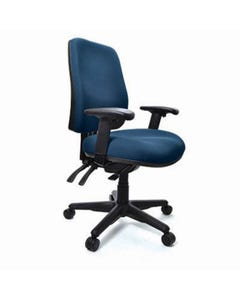 BURO ROMA 3 LEVER HIGH BACK CHAIR WITH ARMS JETT DARK BLUE