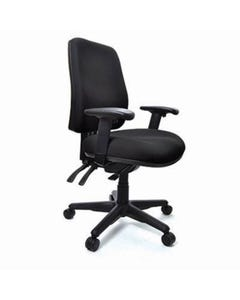 BURO ROMA 3 LEVER HIGH BACK CHAIR WITH ARMS JETT BLACK