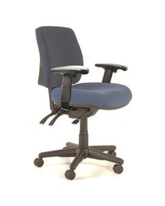 BURO ROMA 3 LEVER MID BACK CHAIR WITH ARMS JETT DARK BLUE