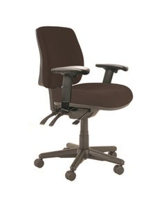 BURO ROMA 3 LEVER MID BACK CHAIR WITH ARMS JETT BLACK