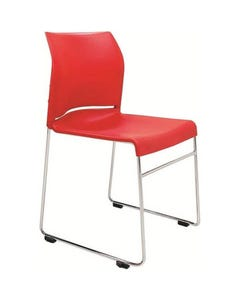 BURO ENVY VISITOR CHAIR SLED BASE RED