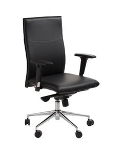 ACE GRAEME EXECUTIVE CHAIR WITH ARMS BLACK BONDED LEATHER UPHOLSTERY