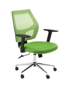 ACE OFFICE CHAIR MESH BACK WITH ARMS GREEN