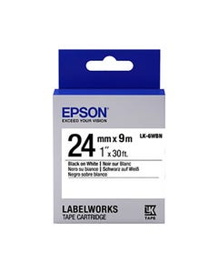 EPSON LABELWORKS LK TAPE 24MM X 9M BLACK ON WHITE