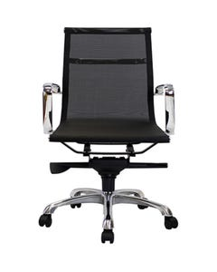 AERO MANAGERS CHAIR MEDIUM MESH BACK WITH ARMS BLACK