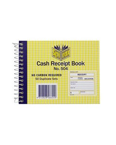 SPIRAX 504 CASH RECEIPT BOOK 102 X 127MM
