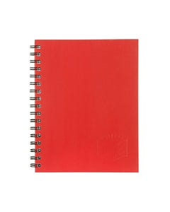 SPIRAX 511 NOTEBOOK 7MM RULED HARD COVER SPIRAL BOUND 200 PAGE 225 X 175MM RED