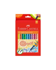 FABER-CASTELL JUMBO TWIST COLOUR CRAYONS BOX 12
