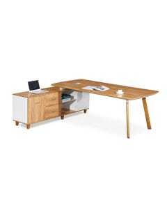 ARBOR EXECUTIVE CORNER WORKSTATION LH 2200 X 1850 X 720MM AMERICAN WALNUT