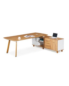 ARBOR EXECUTIVE CORNER WORKSTATION RH 2200 X 1850 X 720MM AMERICAN WALNUT