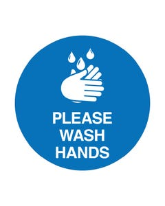 Floor Adhesive - 'Please Wash Hands'