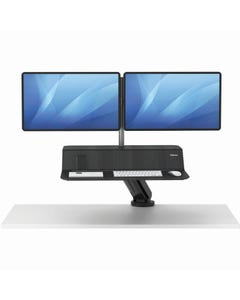FELLOWES LOTUS RT SIT STAND WORKSTATION DUAL MONITOR BLACK