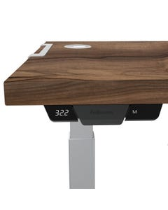 FELLOWES LEVADO HEIGHT ADJUSTABLE DESK TOP ONLY 1800 X 800 X 25MM WALNUT