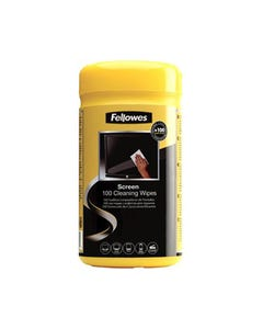 FELLOWES SCREEN CLEANING WIPES TUB 100