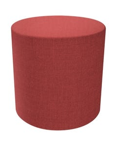 FINESEAT DOT ROUND OTTOMAN MEDIUM RED