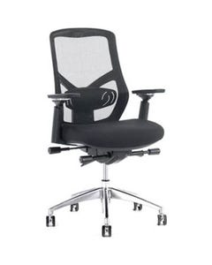 FINESEAT F1 SYNCHRO MESH BACK TASK CHAIR ARMS BLACK