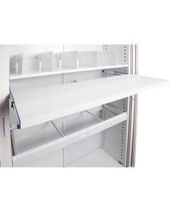 GO PULL OUT FILE SHELF FOR 900MM TAMBOUR CUPBOARD WHITE CHINA