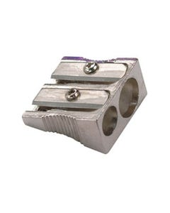 OSMER PENCIL SHARPENER DOUBLE HOLE METAL ASSORTED
