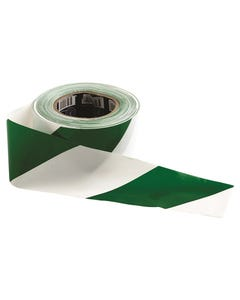 Pro Choice® Barricade Tape - 100m x 75mm Green & White GW10075