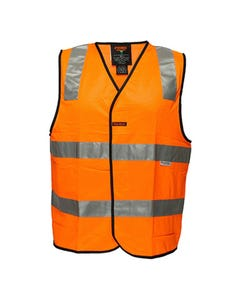Prime Mover Hi-Vis Zipper Day/Night Vest with 3M Tape HV102Z